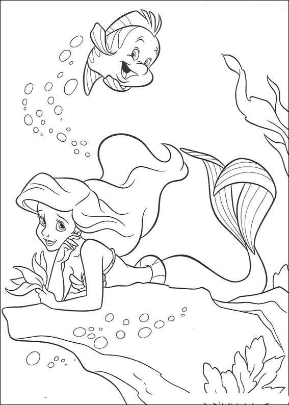 Раскраска русалочка